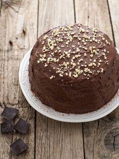 true taste hunters - kuchnia roślinna: Zdrowy niskotłuszczowy tort czekoladowy (bez glute...