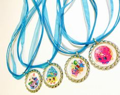SET OF 24 Shopkins party favors - shopkins necklaces