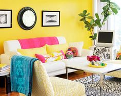 Bright and Simple Colorful Living Room Design Ideas