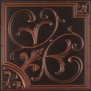 """204 Faux Tin Ceiling Tile 23 3/4"""" x 23 3/4"""" - Antique Copper"""