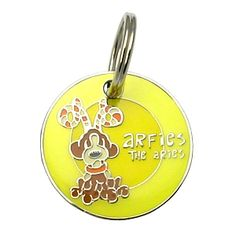Dogoscope Tag- Arfies the Aries - March 21 to April 19    Personality characteristics :: energetic, friendly, impulsive, natural leader, loving & courageous.    Woof's your sign?    DogOscopes collar charms and pet ID tags feature colorful, canine representations of the twelve signs of the zodiac.