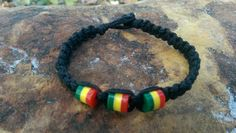 Check out this item in my Etsy shop https://www.etsy.com/listing/255862554/mens-hemp-bracelet-rasta-good-vibes