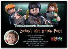 Lego Harry Potter Photo Invitation-custom, personalized, photo, birthday, party, invitations, invites, cards, picture, Lego Harry Potter, kids, children's, boy, girl, Aimee Austin Designs