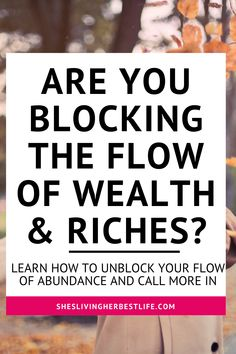 Are you blocking the flow of money and abundance? learn how you can manifest more money with ease and stop blocking yourself from it. Manifestation Law Of Attraction, Law Of Attraction Tips, Self Development, Personal Development, Manifesting Money, Money Affirmations, You Are Worthy, Positive Psychology, New Thought