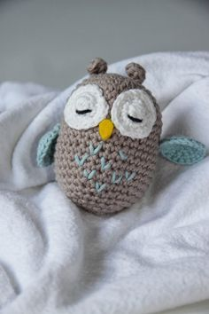 Baby Knitting Patterns Toys Crafting Fun with Hasekind: Instructions – Amigurumi Owl Baby Knitting Patterns, Crochet Patterns Amigurumi, Amigurumi Doll, Crochet Dolls, Afghan Patterns, Knitting Toys, Crochet Diy, Scarf Crochet, Crochet Hats