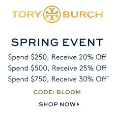 Tory Burch Spring Sales Event