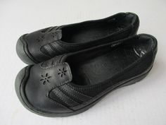 Keeen women shoes sz 7 Black Leather #KEEN #LoafersMoccasins #Casual