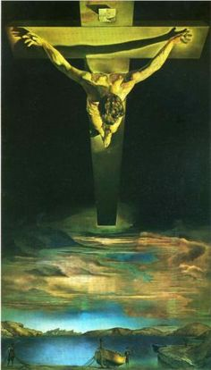 Christ of St.John of the Cross. Salvador Dali. 1951, Oil on canvas 205 cm × 116 cm (80.7 in × 45.67 in) Kelvingrove Art Gallery and Museum, Glasgow