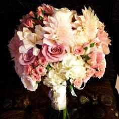 Bridal bouquet blush pinks.  Flowers of Charlotte loves this! Find us at www.charlotteweddingflorist.com