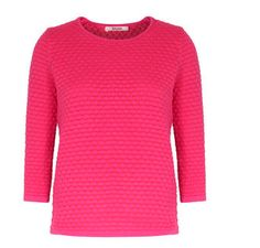 Sweater #100-cotton #honeycomb #layering-piece #new-arrival-from-germany #short-sweater #strawberry-red-pibk