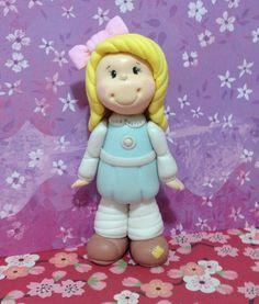 Esta la hice yo!!!! Made by me !! Porcelana fria polymer clay modelado figurine cake topper fimo pasta francesa masa flexible