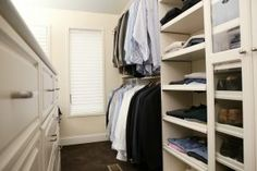 What Is the Average Walk-In Closet Size? What Is the Average Walk-In Closet Size? Walk In Closet Size, Small Walkin Closet, Closet Walk-in, Closet Built Ins, Baby Closet Dividers, Build A Closet, Small Closets, Closet Bedroom, Closet Ideas