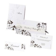 """Hochzeitskarten - Einladungskarte """"Lavina"""" uvm. in Schwarz-Weiß - weddix"""