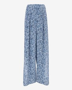 Exclusive for Intermix Side Slit Seychelles Print Pant: The length of the legs are slit revealing a short silhouette underlayer. Hook/zipper closure. Pleated at front. In a dreamy blue Seychelles print. Fabric: 100% silk Model Measurements: Height 5'10; Waist 25 ; Bust 34 wearing size small Rise: 11 Inseam: ...