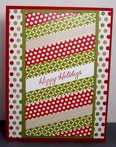 Season of style washi tape Christmas Card