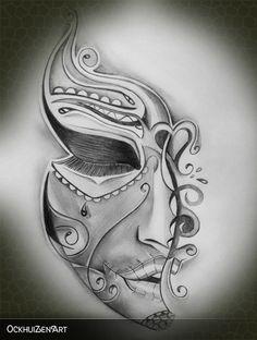 (notitle) - Tattoo ideen - Tattoo Designs For Women Mexican Skull Tattoos, Sugar Skull Tattoos, Leg Tattoos, Body Art Tattoos, Sleeve Tattoos, Dark Art Drawings, Pencil Art Drawings, Art Drawings Sketches, Tattoo Sketches