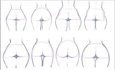 all kind of ass, remind me of My many EX fuck friends Drawing Female Body, Drawing Body Poses, Body Reference Drawing, Drawing Reference Poses, Anatomy Reference, Drawing Tips, Body Drawing Tutorial, Sketches Tutorial, Anatomy Drawing