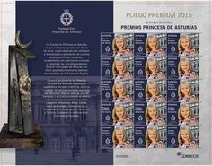 Sello de la Princesa de Asturias, Leonor de Borbón y Ortiz. Sello dedicado a los Premios Princesa de Asturias . Año 2015