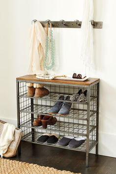 Wanting to add more storage and function to your small entryway or mudroom? Our 4-tier shoe storage tower has room for 12 pairs of shoes and a stable top that makes the perfect landing zone in an entry.