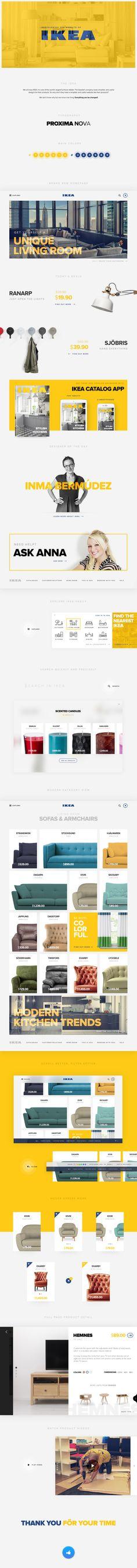 IKEA Redesign - UI & UX Design https://www.behance.net/gallery/28015103/IKEA-Redesign-UI-UX-Design