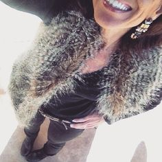 """""""It's Monday Day 2 of my #February #StyleChallenge:  And today I have my animal spots in my faux fur  #StyleMeFeb, a sequined belts and booties…"""""""