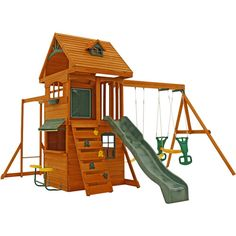 Found it at Wayfair - Ridgeview Deluxe Clubhouse Wooden Swing Set