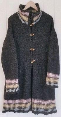 Vintage-jakken. For kjøp av oppskrift, ta kontakt på denne side: https://www.facebook.com/groups/579666092108368/?ref=bookmarks