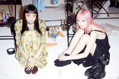 "miss-mandy-m: ""Yuka Mannami and Fernanda Ly backstage for Moschino Resort "" Moschino, Fashion Models, Fashion Show, Candid Photography, Scene Photo, Australian Fashion, Poses, Japanese Fashion, Pretty Pictures"