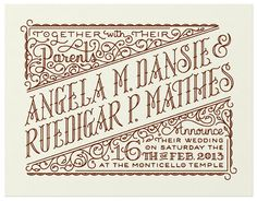 Spencer Charles – Wedding invite - Typography