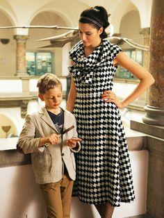 Schnittmuster: Kleid - Langröße - Schal-Kragen - Shirtkleider - Kleider - Damen - burda style