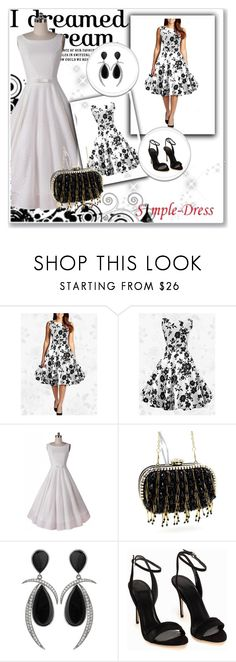 """""""Simple - Dress 6 -  Black&White"""" by passionforstyleandfashion ❤ liked on Polyvore featuring Jorge Adeler, Polo Ralph Lauren, vintage and simpledress"""