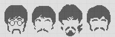 Gráfico baseado na tradicional figura dos Beatles  #pontocruz  #beatles