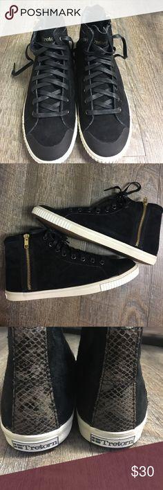 Tretorn suede shoes NWOT Women's size 8.5 Tretorn black suede zip up shoes. Never been worn. Never been worn. Tretorn Shoes