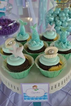 Partylicious: {Mermaids Under the Sea Birthday}The Cupcakes