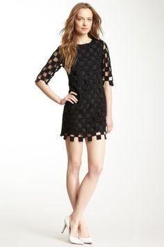 Gracia Grid Knit Dress