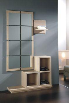 Meuble d 39 entr e design eva atylia prix promo meuble pour for Miroir pour hall d entree
