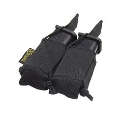 TACTICAL Double Glock Magazine Belt Pouch AIRSOFT SHOOTING HUNTING GUN STRAP