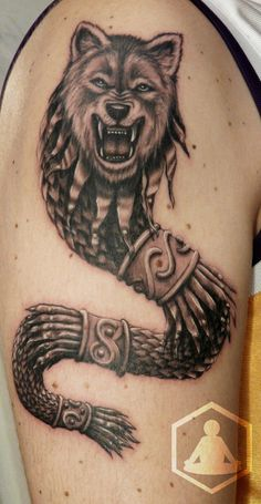 The Dacian Wolf / Dracon Baby Tattoos, Wolf Tattoos, Tatoos, Wolf Tattoo Design, Tattoo Designs, Vampire Tattoo, Dragon Wolf, Cool Chest Tattoos, Trash Polka Tattoo