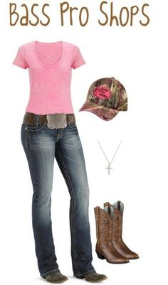 This is the perfect outfit, I already have those same exact Ariats and Bass Pro is my favorite store!