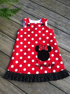 Minnie Mouse A line Dress by REmiCs on Etsy, $35.00