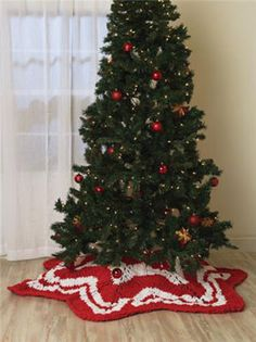 Knit Christmas Star Throw/Tree Skirt