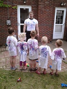 Paint squirt gun fight outdoor play summer Big Energy-Little Learners...Can I do it all?