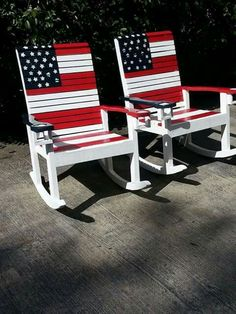 American Flag Rocking Chairs