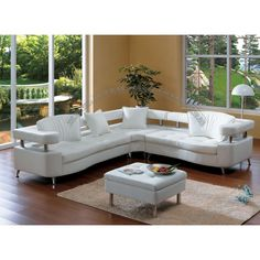Leather Sectional Sofa Modern Furniture For more pictures and design ideas, please visit my blog http://pesonashop.com