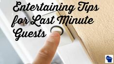 Entertaining is easy when you are prepared for the unexpected. Here are five great ways to handle last minute guests anytime of the year. via @wihomemaker