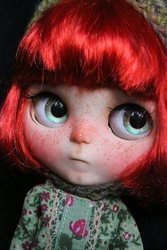 Camila. OOAK Custom Blythe doll.