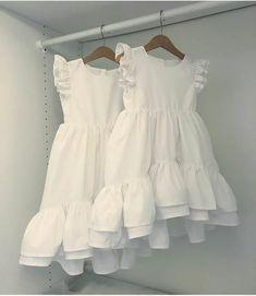 Baby Girl Dress Patterns, Dresses Kids Girl, Little Girl Outfits, Kids Outfits, Cute Little Girl Dresses, Children Dress, Children Clothes, Baby Dresses, Dress Girl