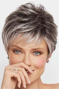 Crushing On Casual by Raquel Welch Wigs - Lace Front, Monofilament Wig - My list of women's hairstyles Haircut For Older Women, Short Hairstyles For Women, Straight Hairstyles, Boho Hairstyles, Wedding Hairstyles, Natural Hairstyles, Wedge Hairstyles, Short Hair Older Women, Pretty Hairstyles