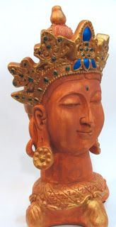 Ateliê Le Mimo: ORIENTAIS  Cabeça de Lakshimi - peça em gesso