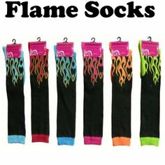SOCCER stuff -best of by @Kerry Rizzo - AWESOME FLAME SOCKS HARD TO FIND COLORS GREAT PRICE